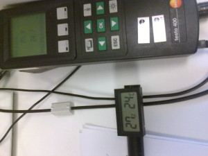 testing humidity and temperature