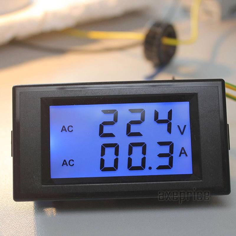 Digital Volt Meter : Usefulldata good ac volt ammeter wiring black version