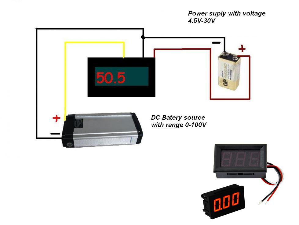 voltmeter schematic diagram for 0 100V DC digital usefulldata com digital dc voltmeter 0 100v from china car voltage meter wiring diagram at mifinder.co