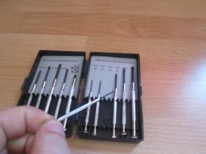 screwdriver for calibration