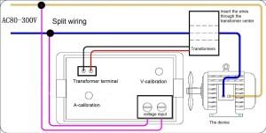 voltmeter ampermeter voltage current display