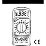 Excel XL830L Multimeter Instructions manual