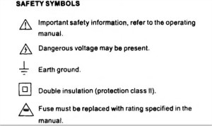 Excel XL830L Multimeter Instructions.pdf - safety symbols