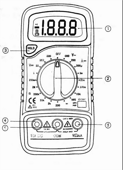 Excel XL830L Multimeter schematic xl830l