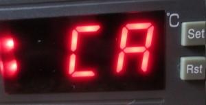 CA calibration temperature