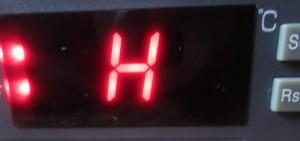 H heating setings