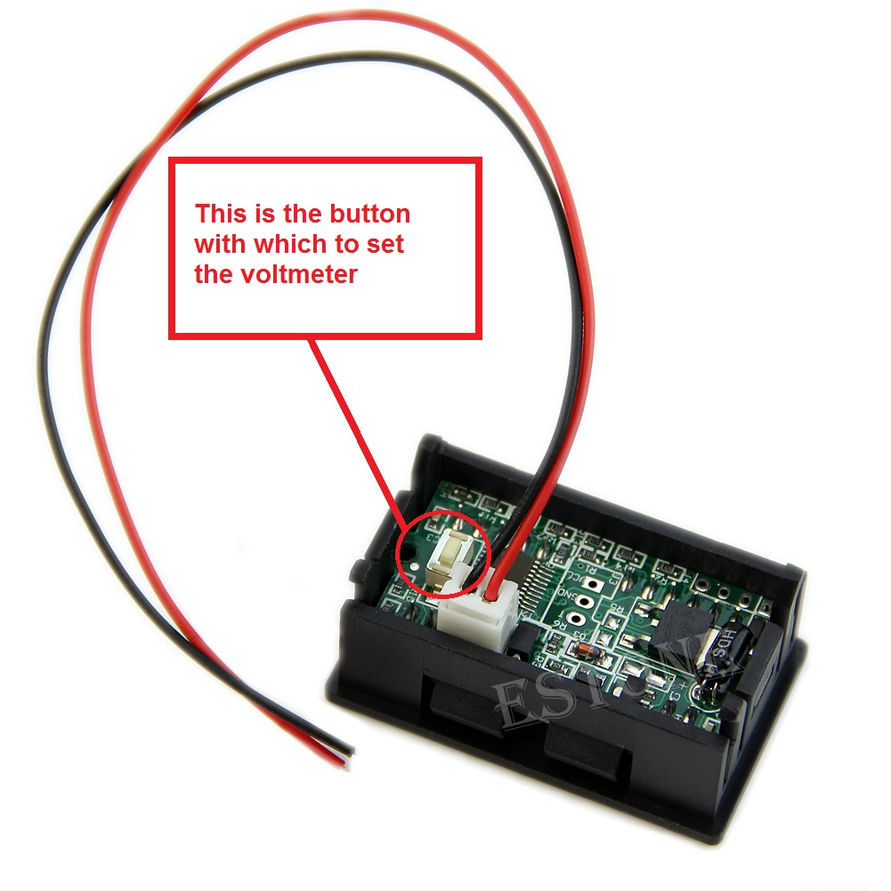 Led Voltmeter With Battery Status Indicator Review Wiring Diagram Of Calibration