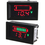 LED Voltmeter with battery status indicator review and manual
