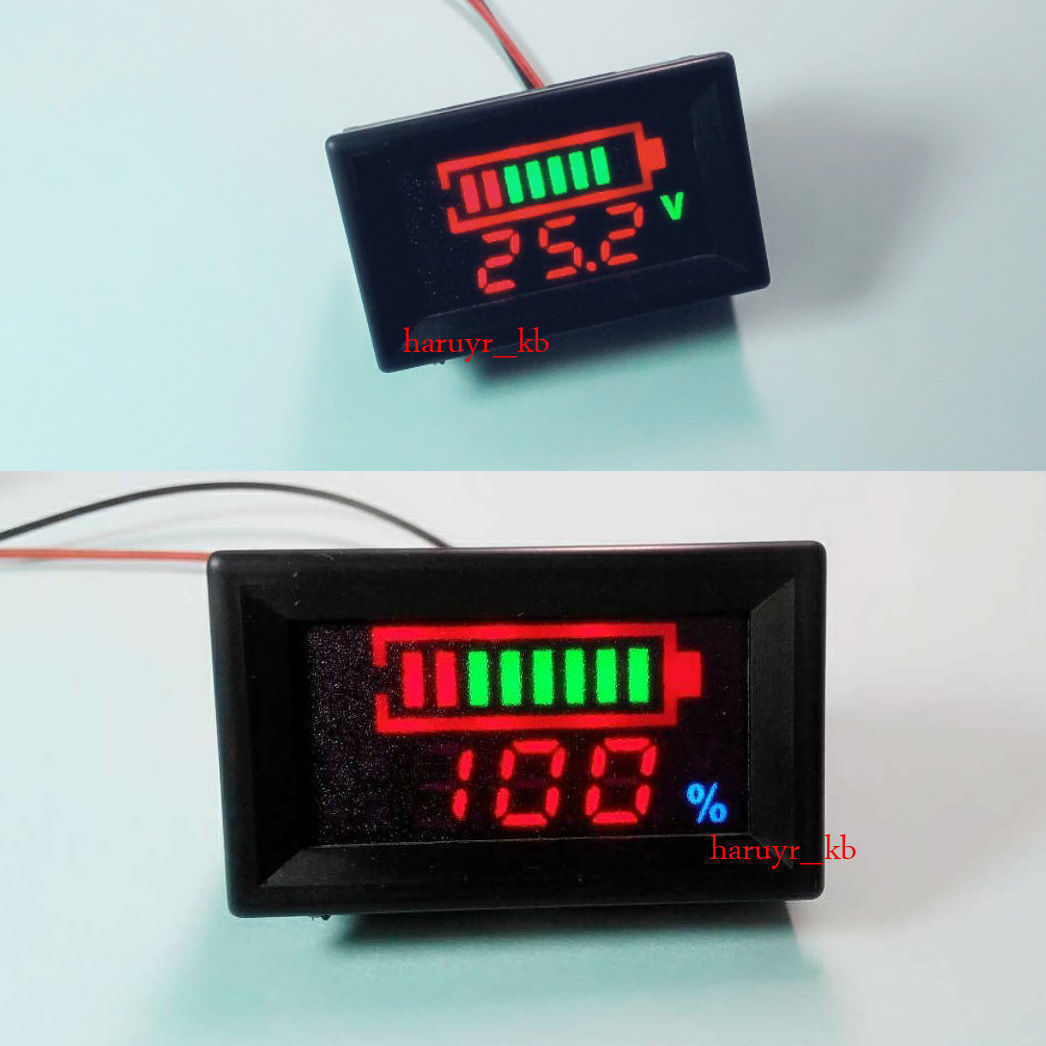 Led Voltmeter With Battery Status Indicator Review Wiring Diagram Of Percentage