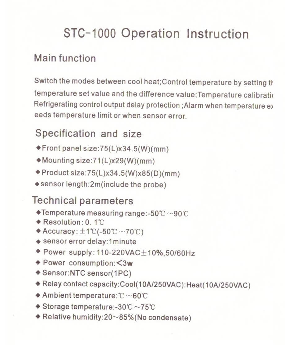 Lerway Stc 1000 Wiring Diagram Detailed Schematics 110v Relay Usefulldata Com Temperature Controller With 2x For Digital Thermostat