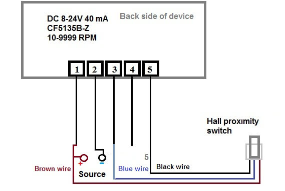 usefulldata com digital led rpm speedometer tachometer with hall plc wiring diagram with electrical wire connections and power source