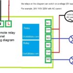 220V AC 2 channel remote relay diagram schematic with acd switching