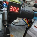 Ebike throttle with switch and voltmeter 12V-72V