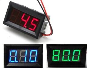 Green Blue Red digital voltmeter from ebay