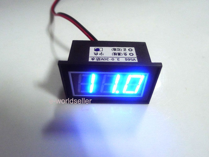 blue waterproof voltmeter