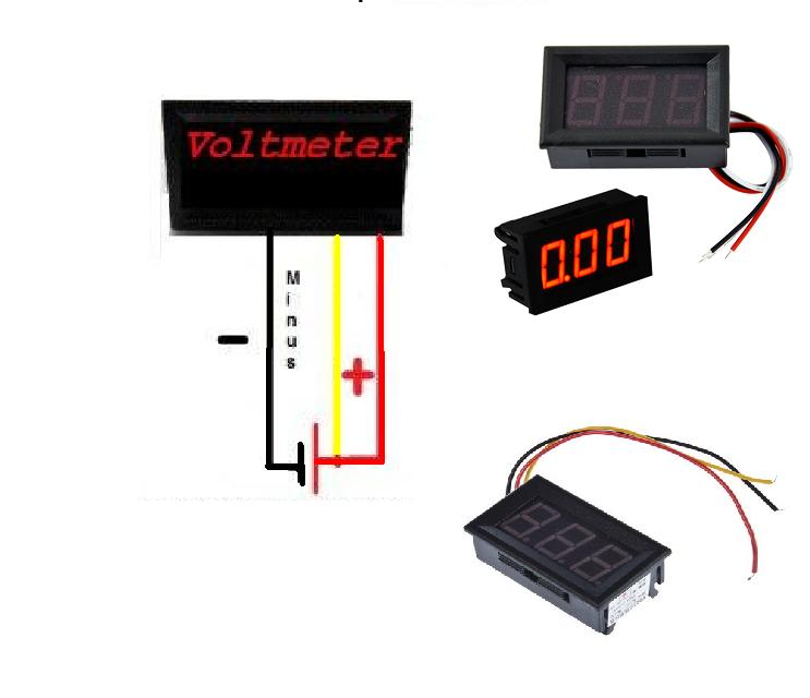 digital voltmeter 4 5v-30v selfpowering mode dc voltage