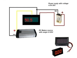 Digital DC    Voltmeter    0100V from china  schematic and