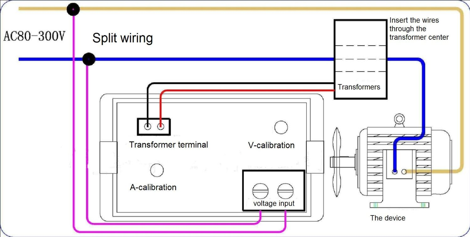Ac Amp Meter Wiring Diagram View How To Improve Accuracy Of A Measurement Ddh303l Schematic Voltmeter Ammeter Ampermeter Voltage Current Display