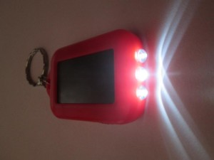 led solar keychain features