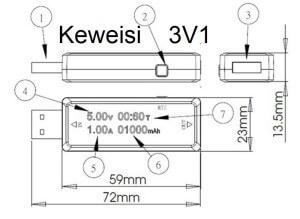 USB voltmeter ammpeter keweisi
