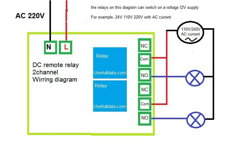on ac switch schematic