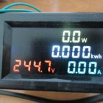 D69-2049  AC Color display Voltmeter Ammeter with Wattmeter and Energy meter with 100A CT