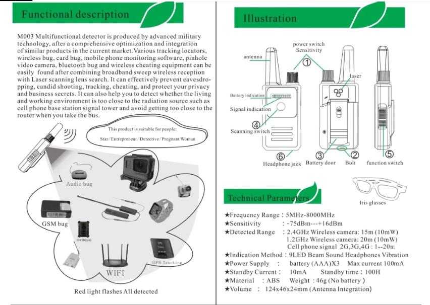 Mosheen M003 Signal Detector  Antispy   U2013 Usefulldata Com
